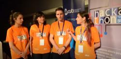 Estudiantes de JaP ganadores de la Hackathon BPS